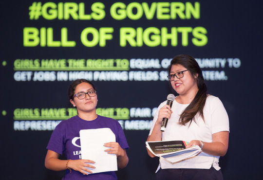 Reading the #GirlsGovern Bill of Rights, Town Hall