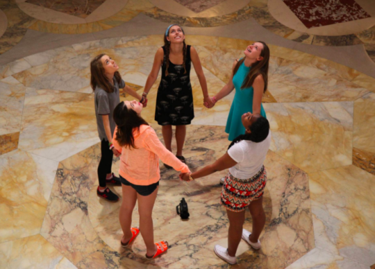 Wisconsin Girls in Madison State Capital