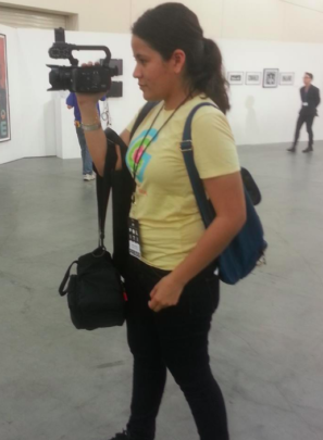 GlobalGirl Irene Filming B-Roll at Politicon