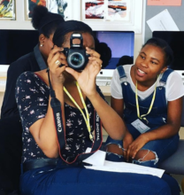 GGM London Girls practicing their camera skills