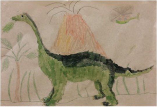 Eddie's Dinosaur Painting!