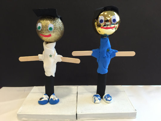 Puppet brothers created in-hospital