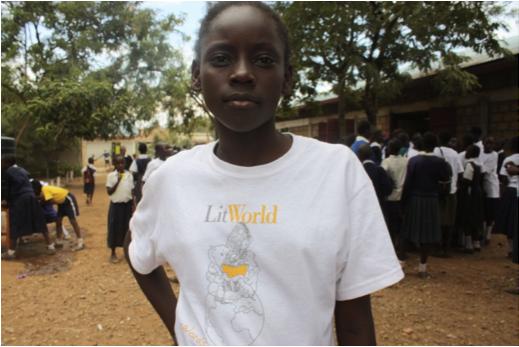 Kenya Girls LitClub member