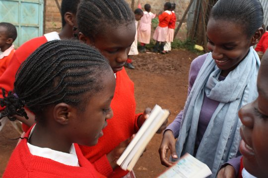 Kibera, Kenya Girls LitClubs receive new books