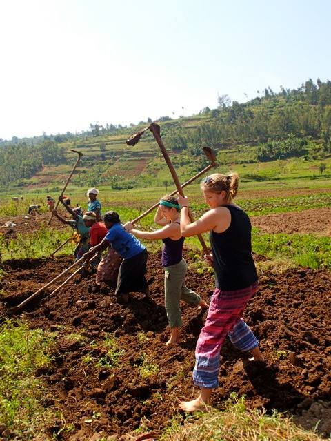 Planting crops for the income generation program