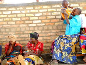 Mothers and babies at the Huye Health Clinic