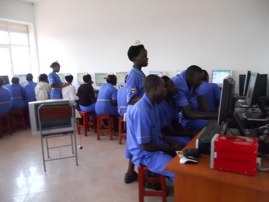 Students using the computer lab