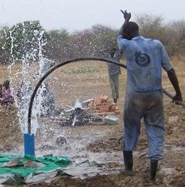 Strike! Water for a new well!