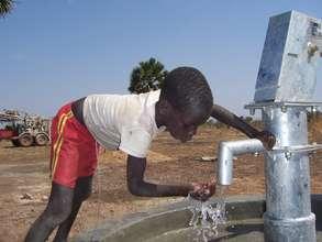 Boy getting water