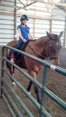 Emily riding