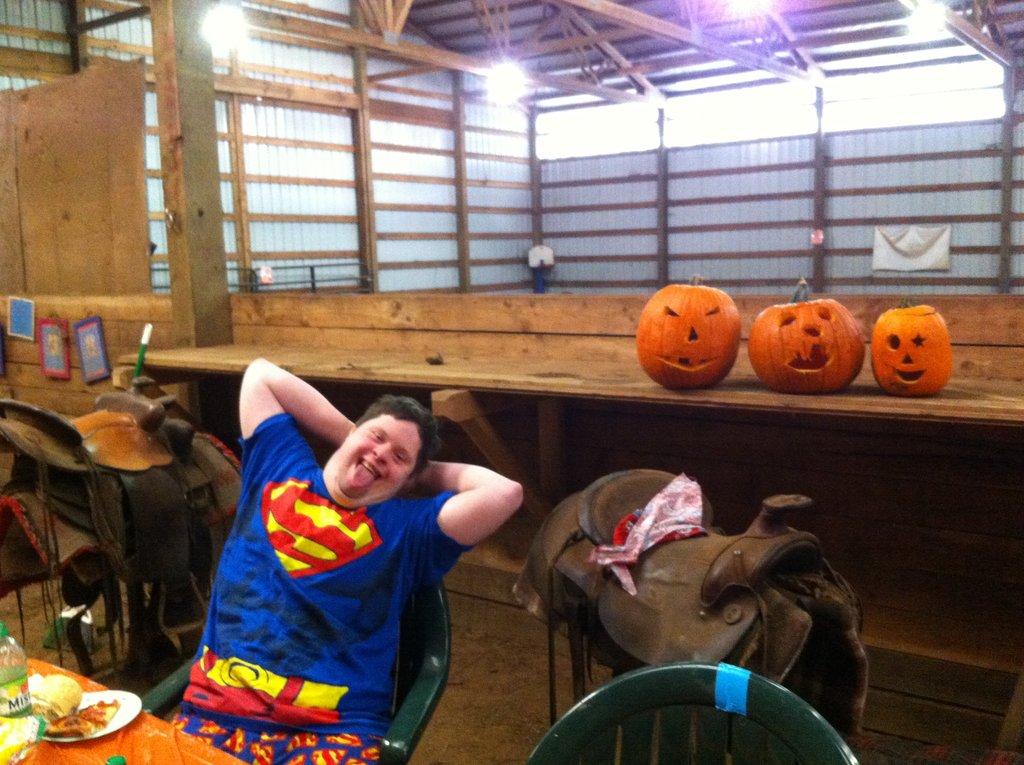 pumpkin carving and riding camp