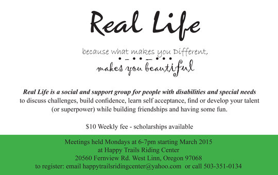 "Flier for, ""Real Life"""