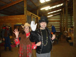 Cowgirl and Michael Jackson at Halloween Camp