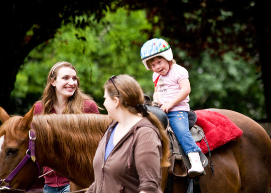 Horse riding for 68 people with disabilities