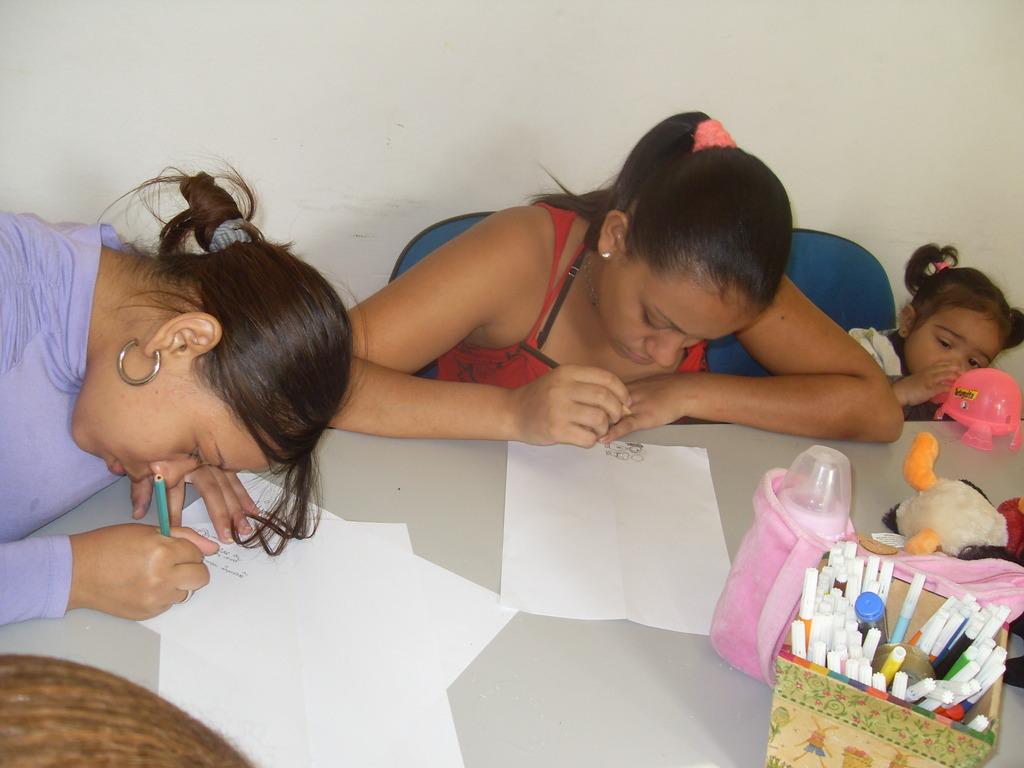 Teen Mothers in Workshop Activity