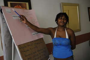 Project beneficiary in a course activity