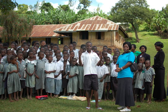 Students of the Buyobo Primary School