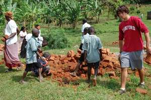 Students Moving Bricks
