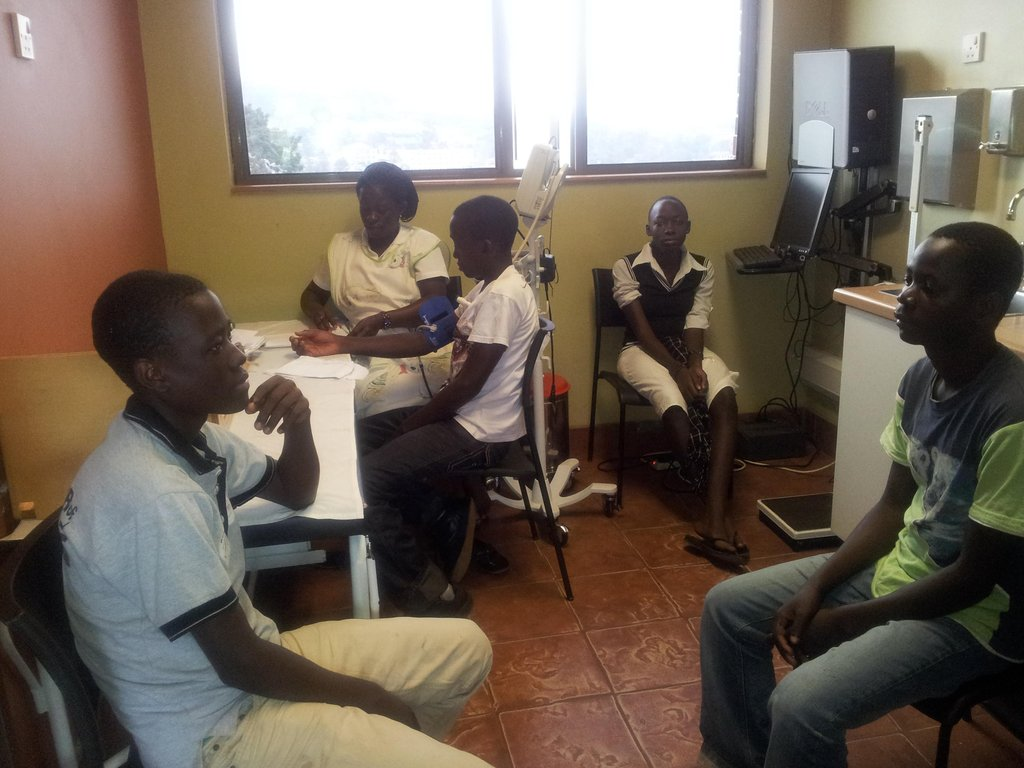 Adolescents receiving counseling
