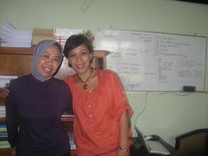 coach Ari (right), client Dyah (left) - Indonesia