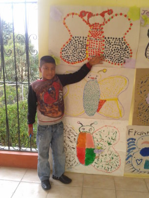 Pedro is very excited to show you his artwork!