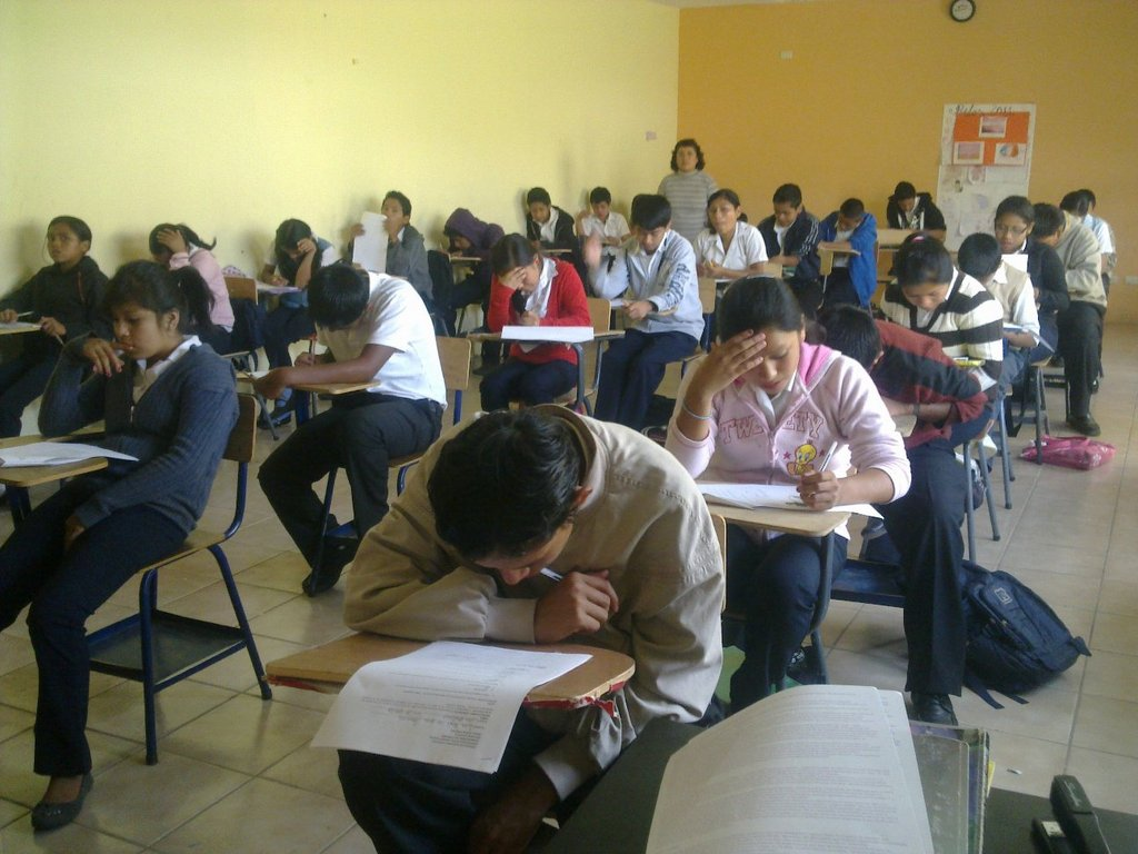 Scheel Grade 7 Class Tackle a Science Exam