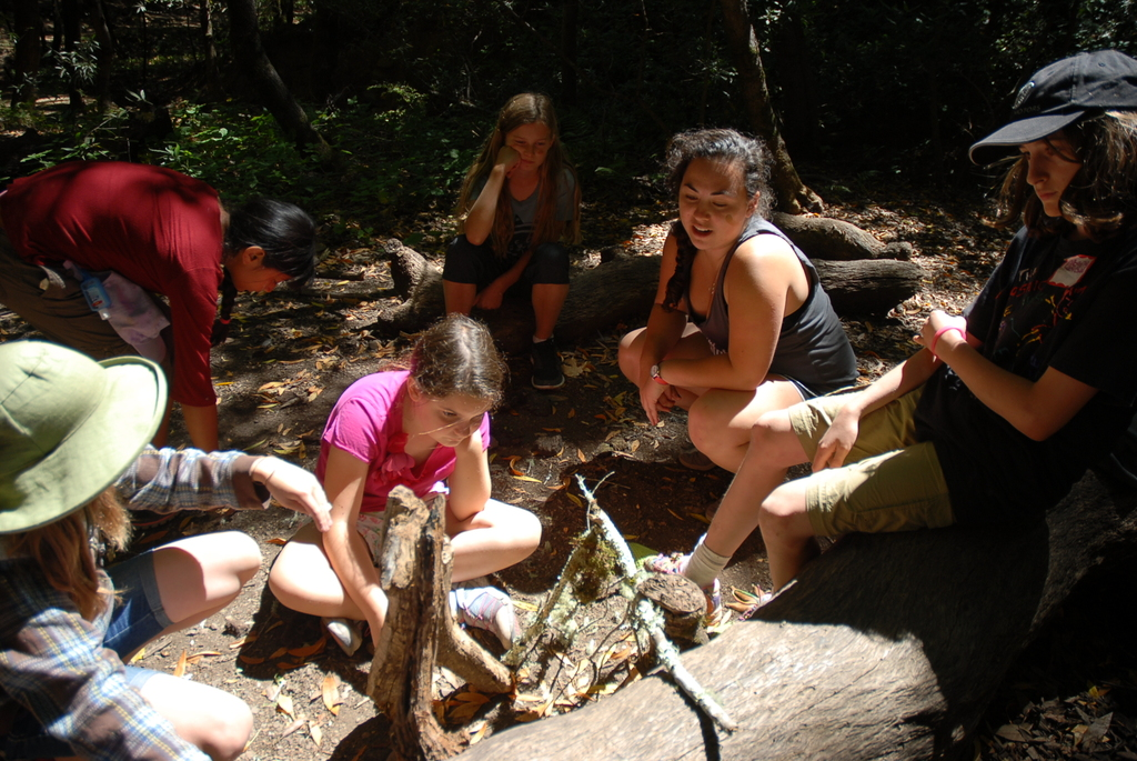 Keili facilitating a reflection in the wilderness