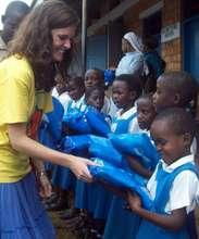 Children Receive Bednets from A NETwork Volunteer