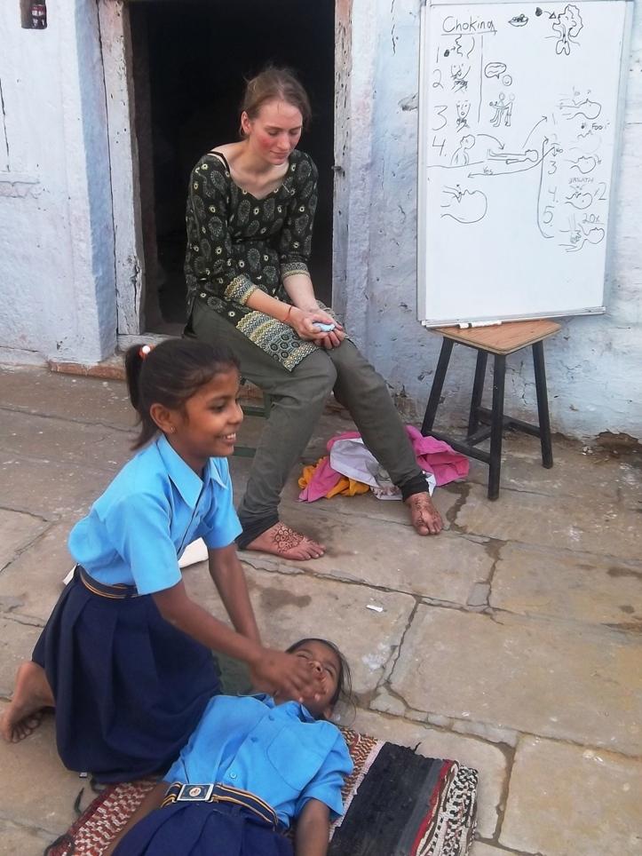 First Aid class in Setrawa
