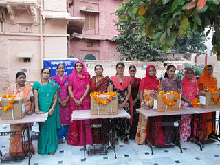 Payal Empowerment Centre receiving sewing machines