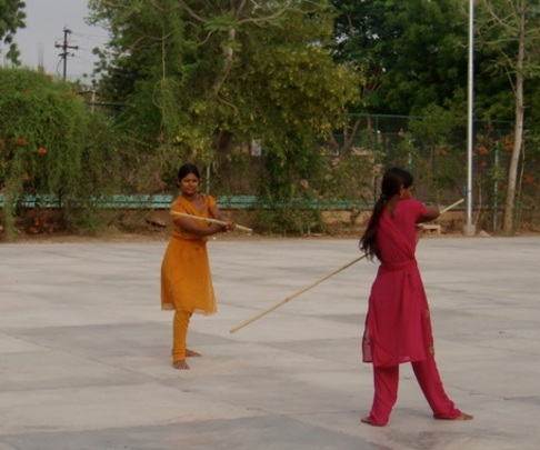 Self-defence class at Sambhali