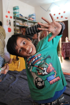 Sambhali kids showing off their skill