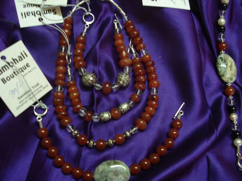 Jewelry sold at the Sambhali Boutique