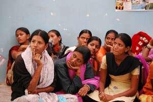 Sambhali girls learning Hindi