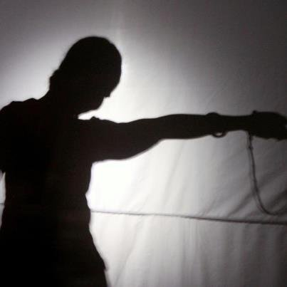 Shadow theatre performance
