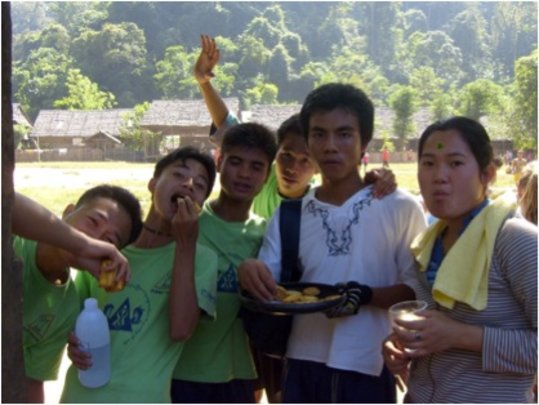 DARE Teens have many uses for Frsibees...eating!