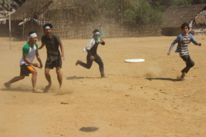 A hot and dusty day playing Ultimate Frisbee
