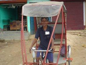 Photo-- Rickshaw puller