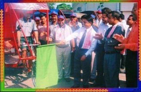 Inauguration of Rickshaw Bank by Sponsors
