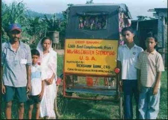 Rickshaw Puller with his Family