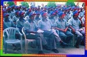 Meeting of Rickshaw Pullers in their Uniforms