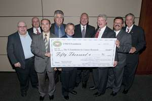 Presention of $50,000 to the V Foundation