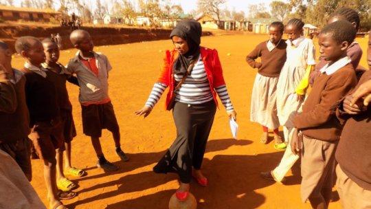Mumina running a session