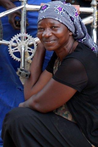 Rauha Heita - lead mechanic in Okalongo