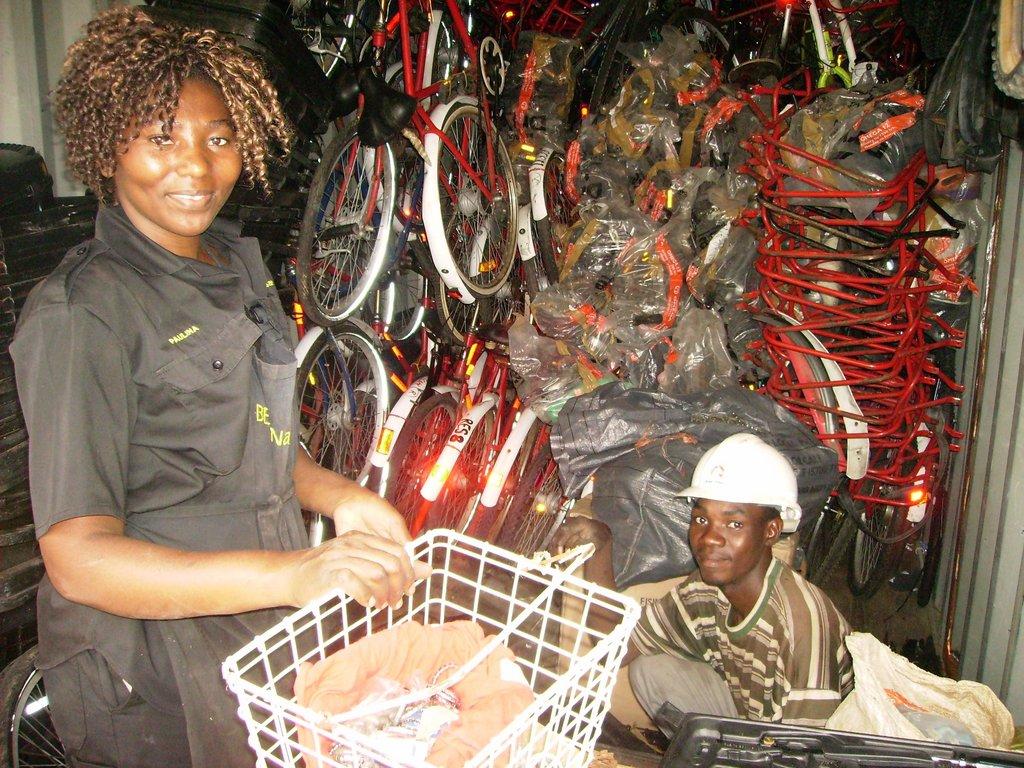 Sustainable bike shop in Okalongo, Namibia
