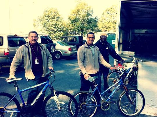 Bikes from the good folks @ KSU thanks to Betty J!