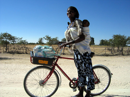 Sustainable bike shop in Okalongo, Namibia