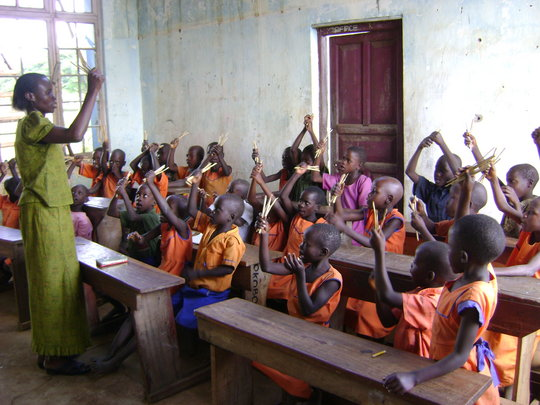 After roofing, children in class: Hope