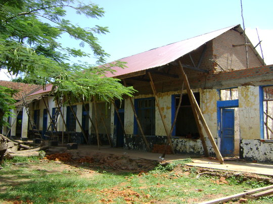 After renovation: 2 classrooms roofed