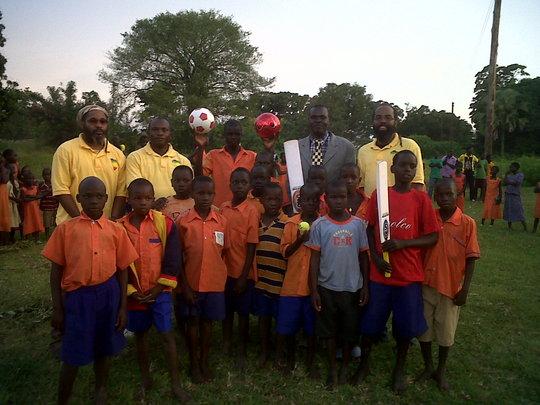 Shashamane team donates sporting equipment
